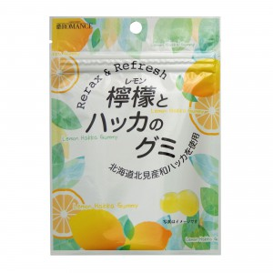 檸檬とハッカのグミパッケージ1